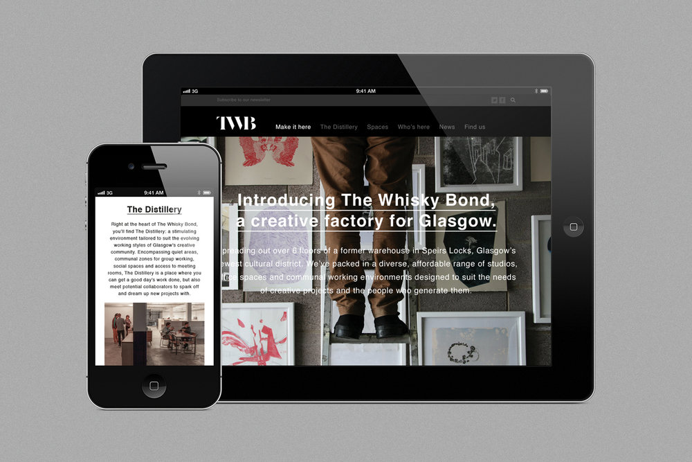 The Whisky Bond Website Design