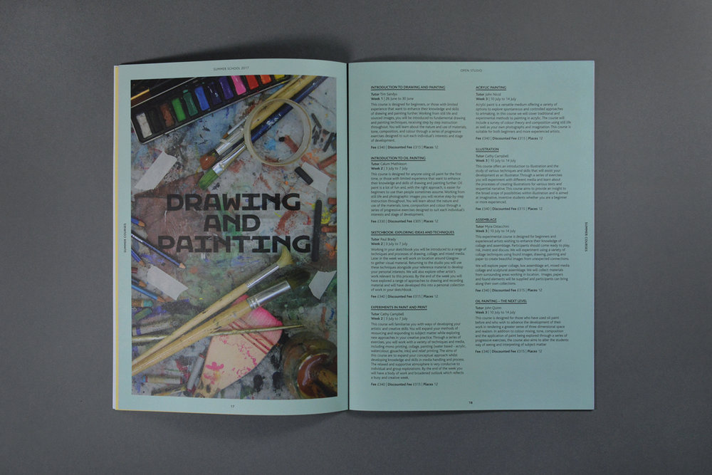 Glasgow School of Art Brochure Design