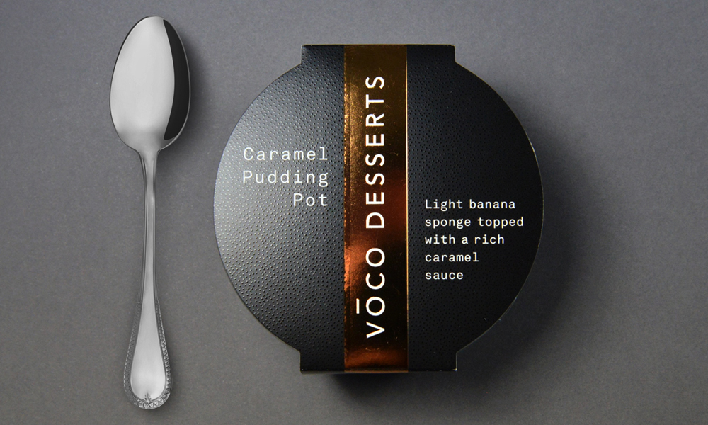 Voco Desserts Packaging Design and Branding