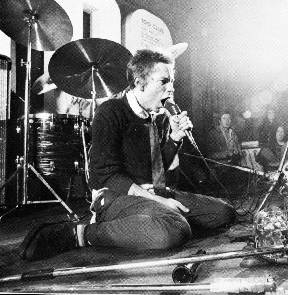 Johnny Rotten of The Sex Pistols at the 100 Club