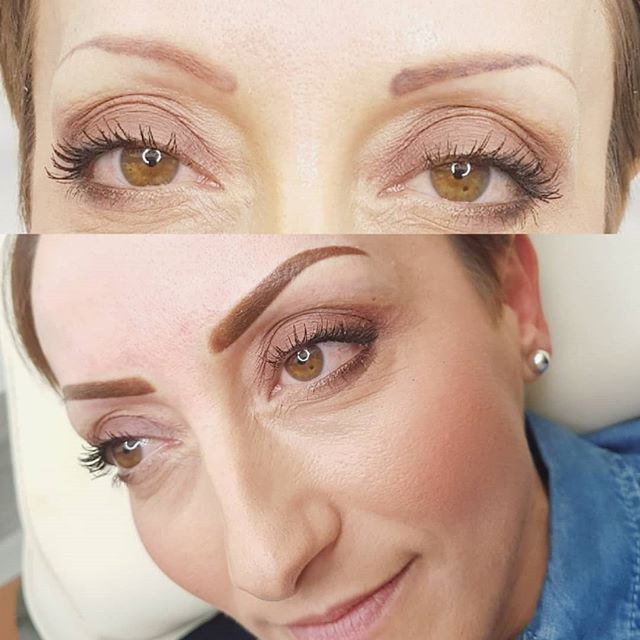 If you think nothing can be done with your old dodge pmu, you might be wrong. No laser on these just a cover up, FIRST SESSION. Definitely will need two. My client is already delighted with the result 😍💕🧚♀️💕nice. #todayswork #pmu #coverup #powder #brows #eyebrows #semipermanentmakeup #permanentmakeup #eyebrowtattoo  #eyebrows #permanentmakeup
