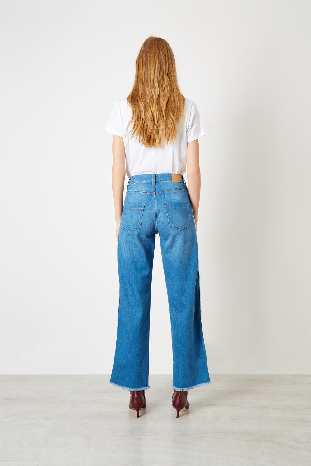 Boyfriend Fit Side Stripe Organic Jeans