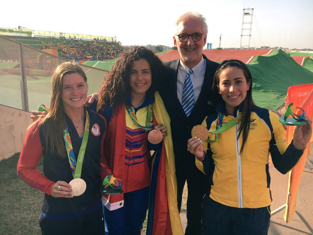 Brian Cookson at 2016 Rio Olympics BMX