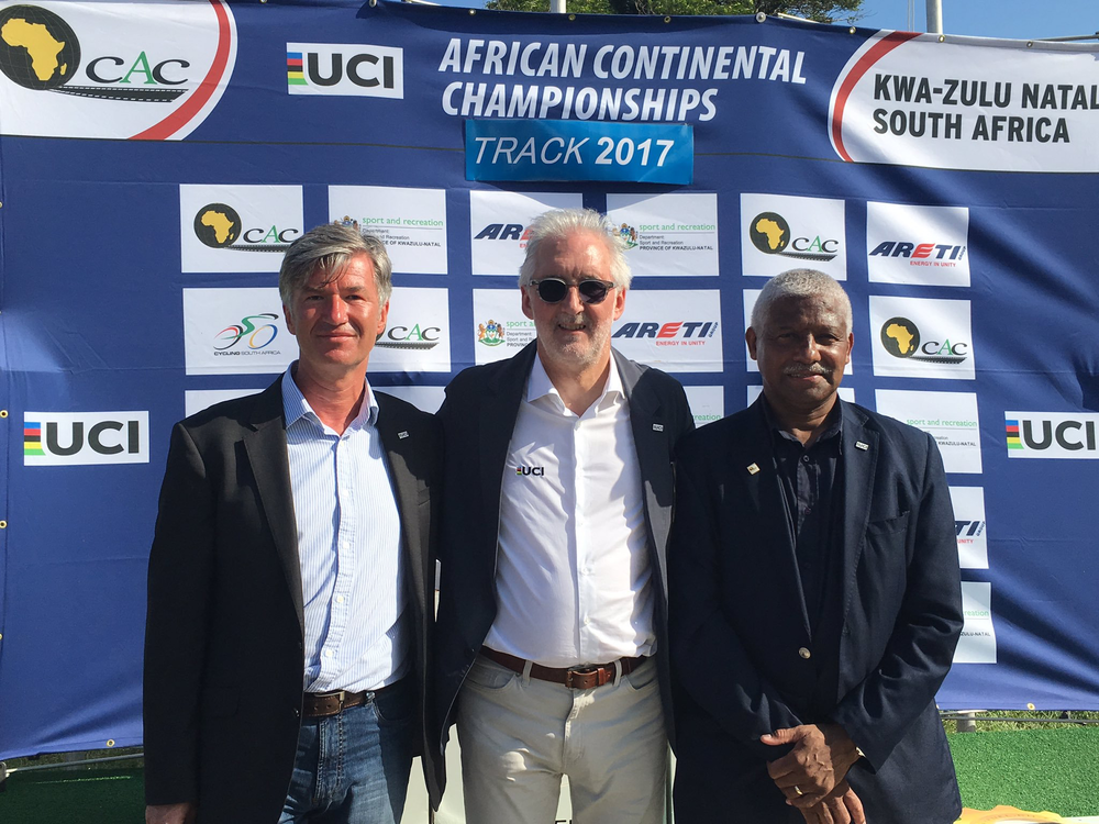 Brian Cookson at the African Continental Championships 2017