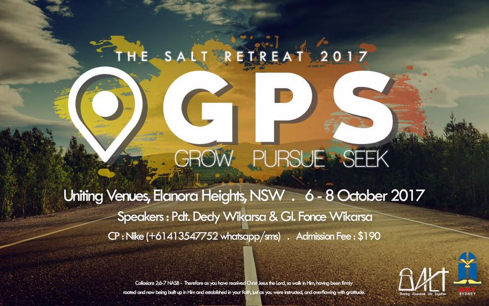 "Upcoming event: Retreat Youth GKY Sydney ""GPS"""