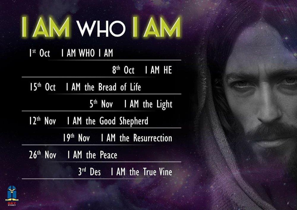 - Mari datang dan dengarkan kelanjutan seri khotbah I Am Who I Am, klik disini untuk info lebih lanjut, dan jangan lupa untuk subscribe podcast khotbah GKY Sydney di podcast GKY Sydney
