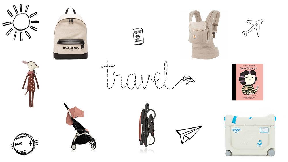 Balenciaga Backpack ,  Ergo Baby Carrier ,  Maileg Bambi Doudou  , Babyzen Yoyo stroller ,  Jetkids Bedbox