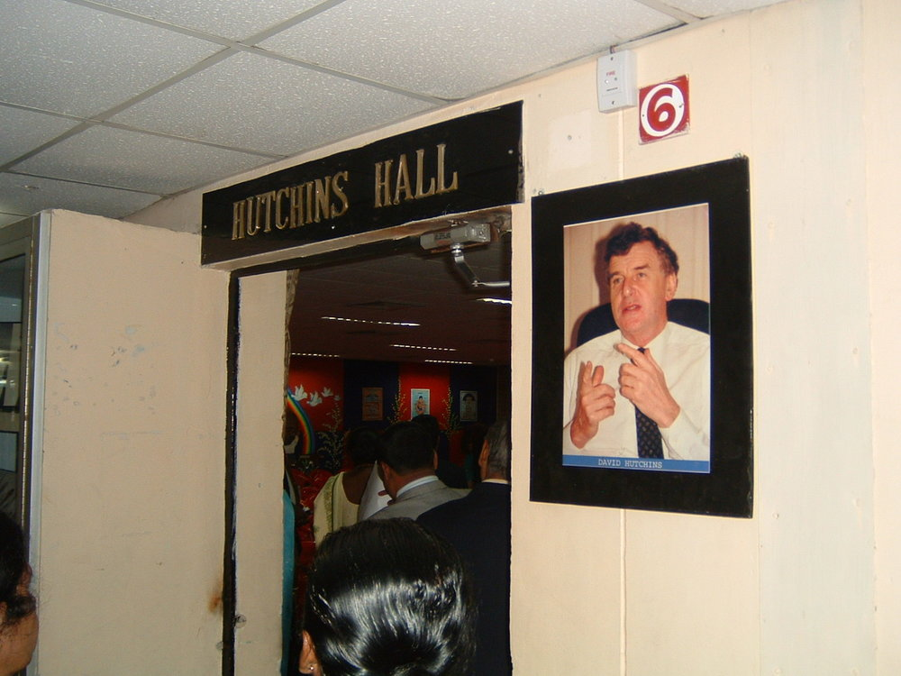 One of the main presentation Halls at CMS Lucknow named after David in recognition of his early work helping the movement to get established