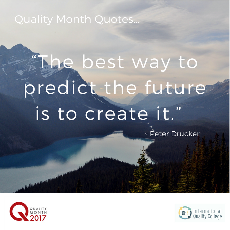 peter Drucker is right. Another quote from John young the ex ceo of hewlett packard ' in the yukon it is said that it is only the lead dog that gets a change of view'. so do not be an also ran but join us in creating a whole new world