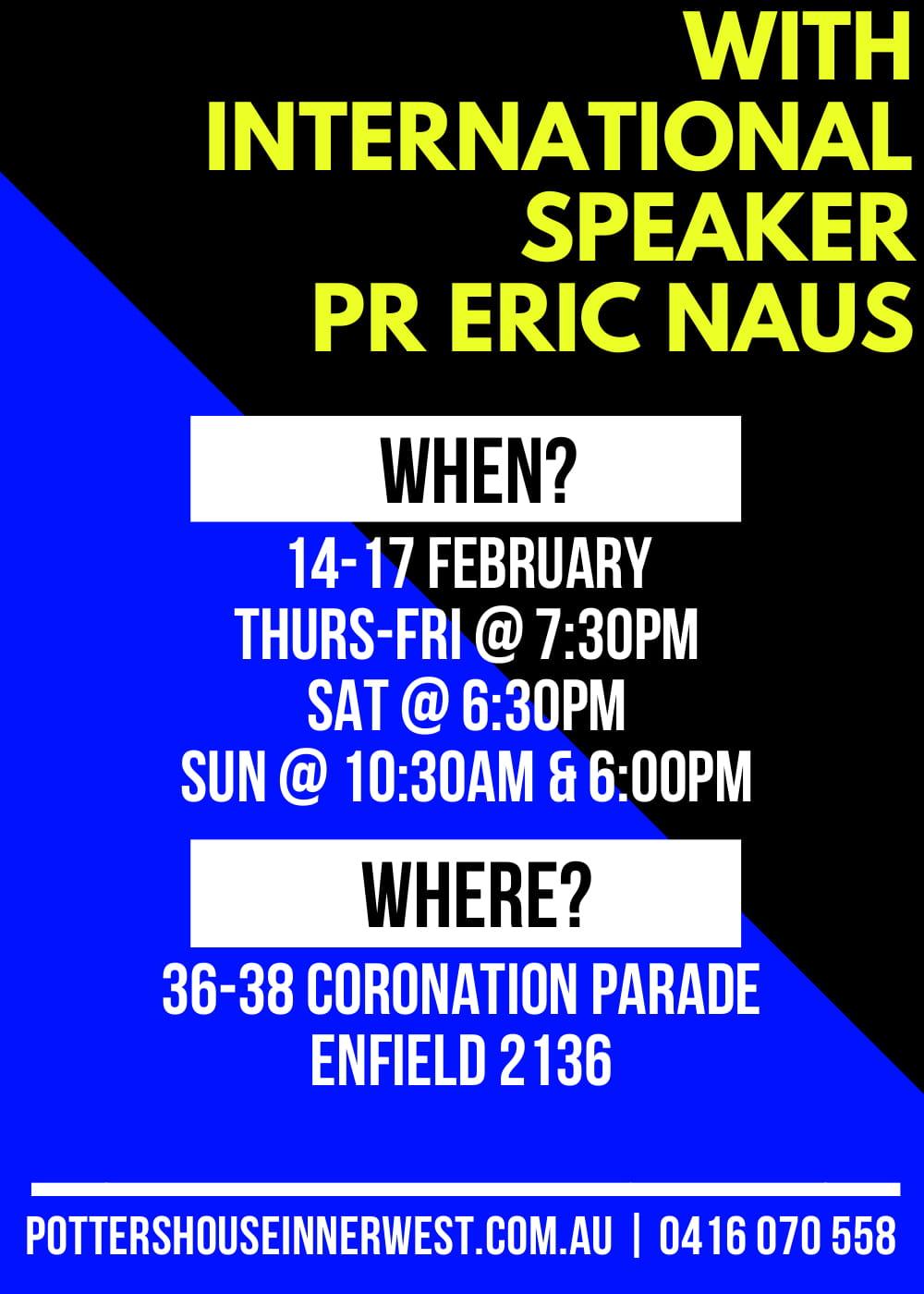 Pr Eric Naus Revival - February 2019