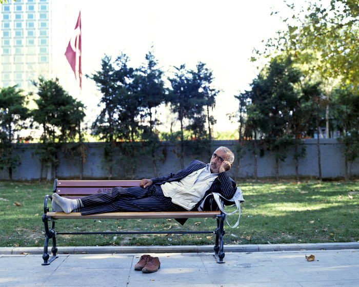 I met Zeki in Gezi Park, where I spent lots of time photographing. He has worked with textiles his whole life. Originally from Adiyaman, he came to Istanbul with his mother when he was 9 years old. Now 69 he has five children but unfortunately his wife has passed away. He told me he would love to find a new wife.