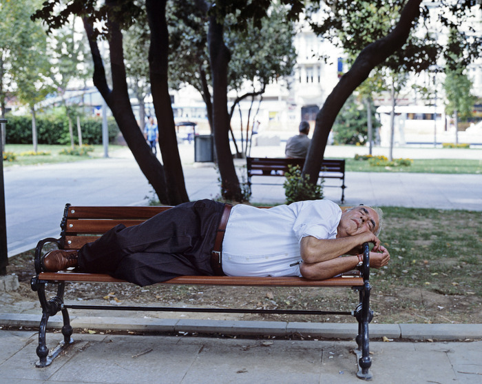 I envy people like this man, who are able to take a nap in public places. They look like they are so comfortable within their environment, here we are in Gezi Park.