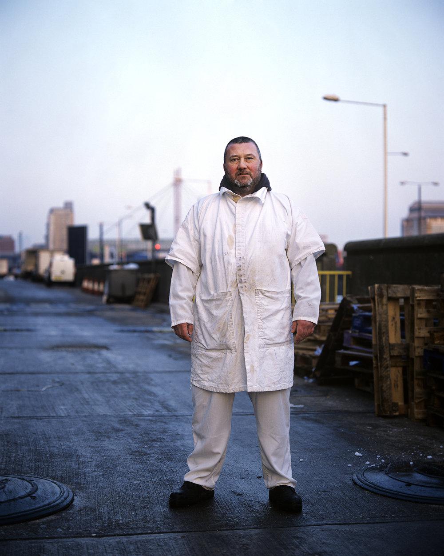 Gary Durden, fish porter for 31 years.
