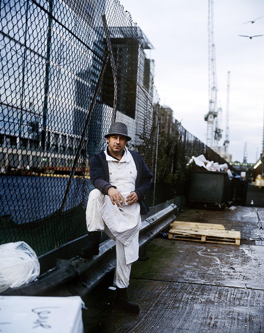 Martin Bicker, fish porter for 24 years.