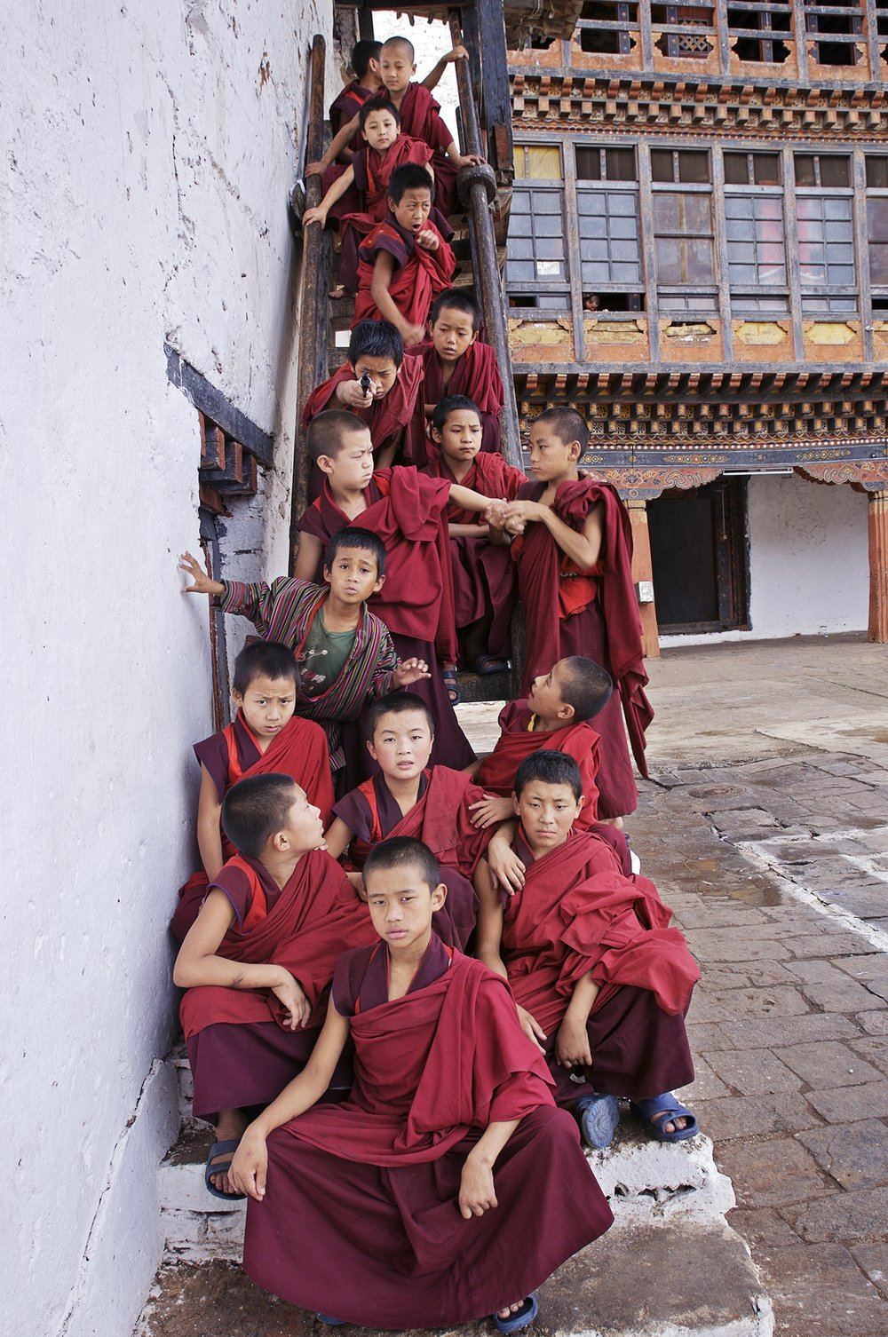 Bhutanese monks 2007