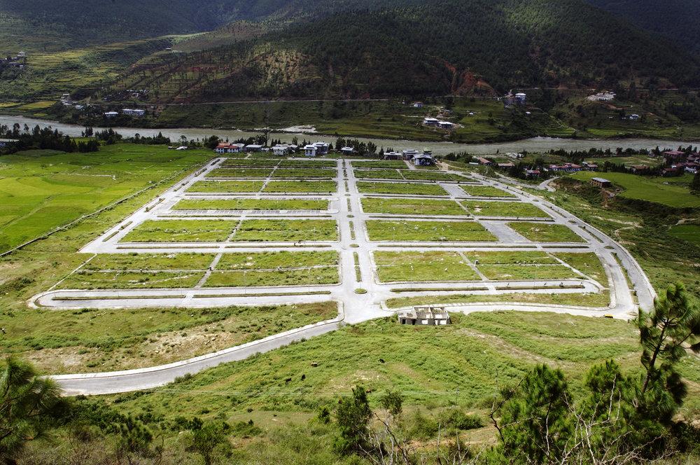 Town layout    for the new Wangdue Phodrang, 15.09.07 Wangdue.