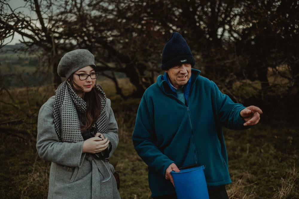 Ernest of Izzy Lane and Suzanna at their farm in Yorkshire: Photography:  Chloe Grayson