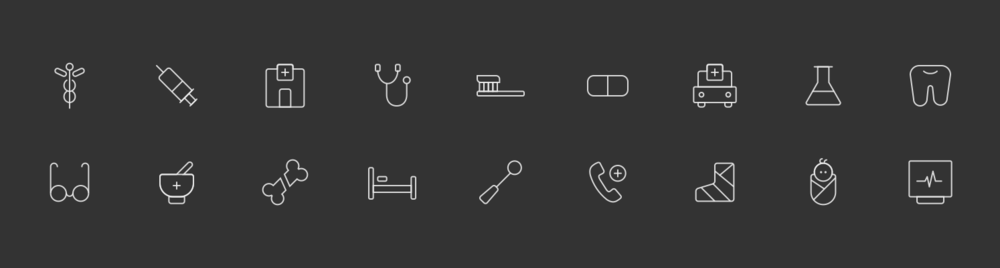 Icon set for Insurance collections.