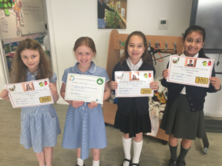 This week we had some 300 Dojo awards too, and an Eco Certificate for recycling!