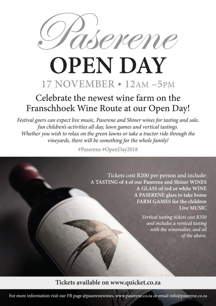 Paserene Open day November 2018 — Paserene