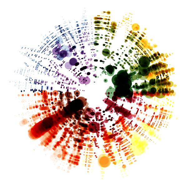 Visualisation of Vivaldi's Four Seasons by Nicholas Rougeux