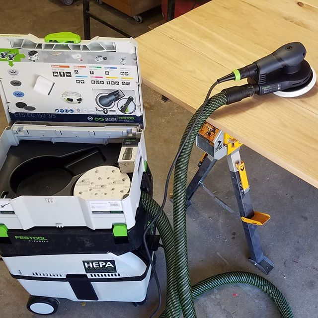 Festool knows how to make our hearts go pitter pat. 💗 There's nothing better than new tools that help you speed up your process. Can't get over this organization.  #festool #twitterpated