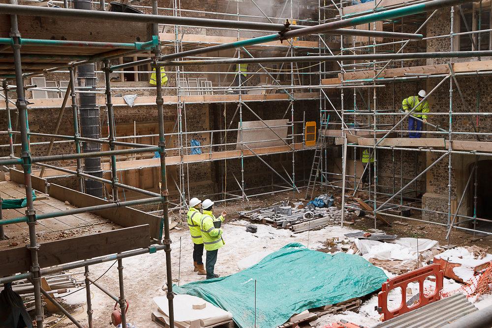 Glynde Place - Phase I - Cortyard scaffolding  (Carlotta Luke).jpg