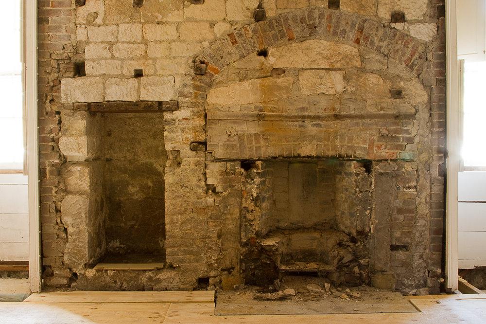 Glynde Place - Phase I - Found fireplace, three interations (Carlotta Luke).jpg
