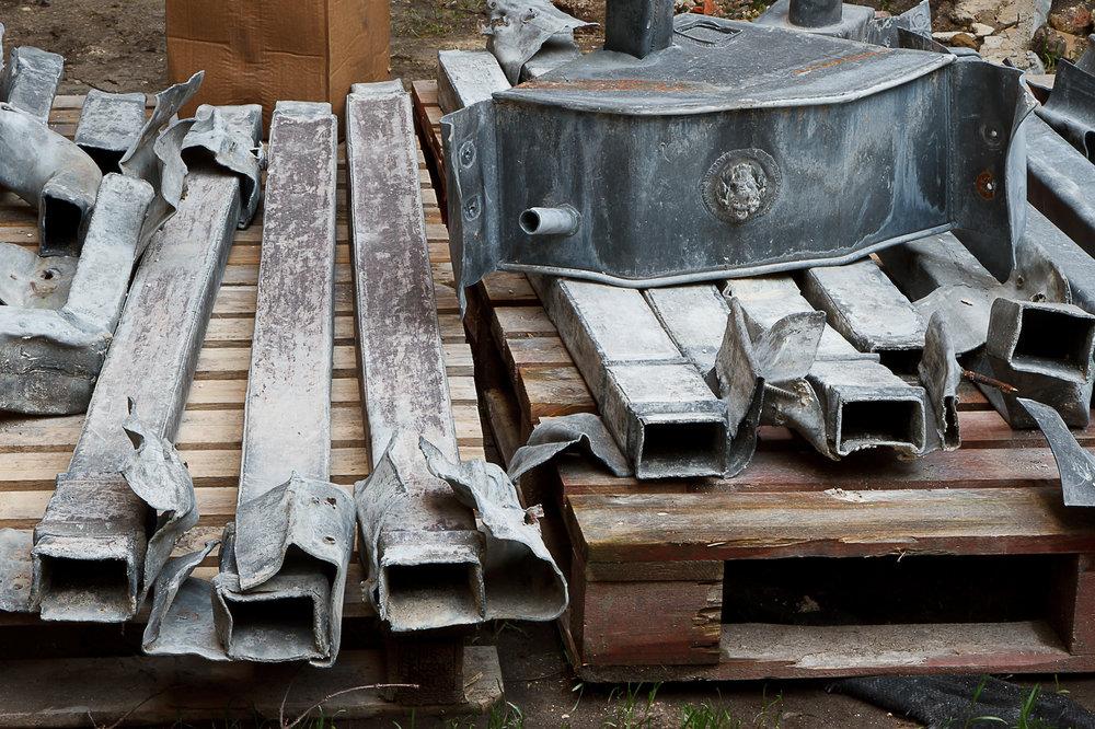 Glynde Place - Phase I - Original rainpipes awaiting restoration  (Carlotta Luke).jpg