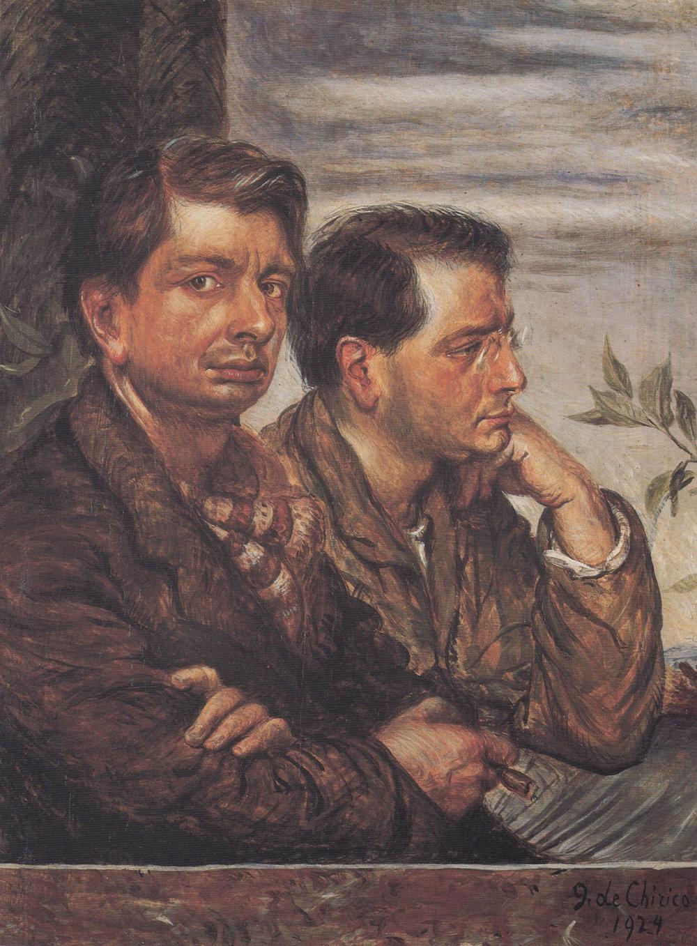 1924, Autoritratto con fratello.jpg