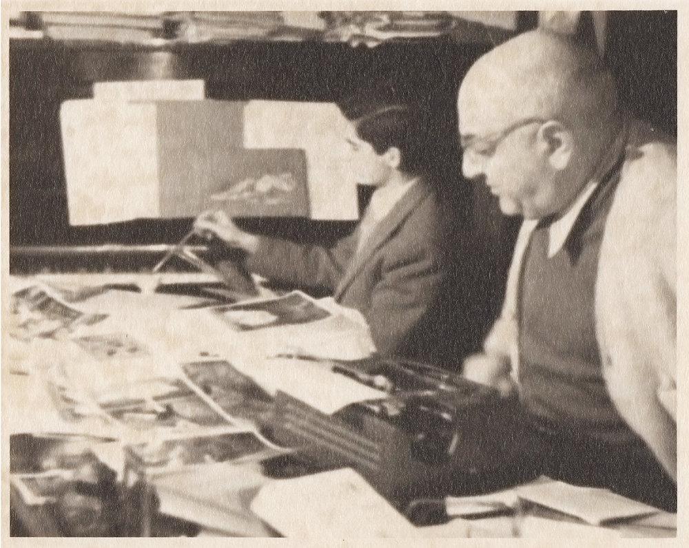 col figlio Ruggero, Roma, 1952