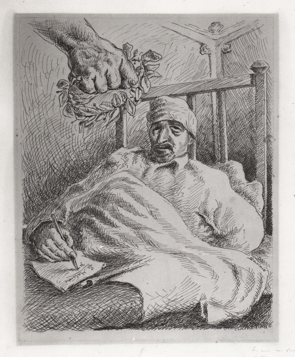 1941, 8, p.299, Apollinaire ferito.jpg