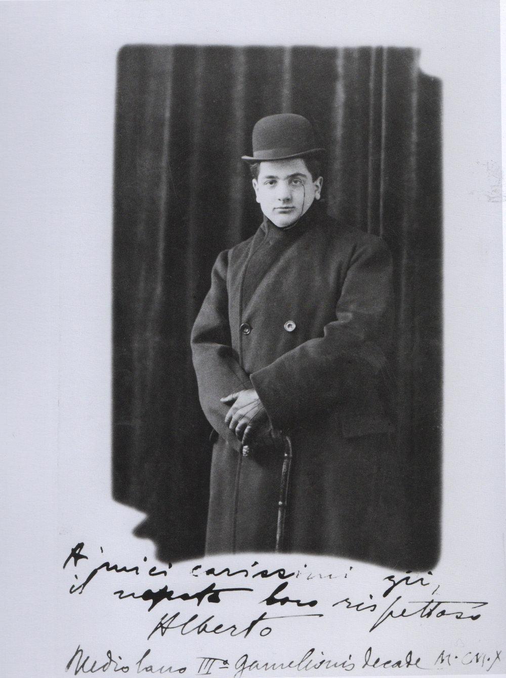 Alberto Savinio, Milan, 1910