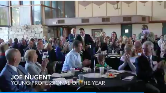 Joe Nugent recognized as the 2016 News-Press Young Professional of the Year.