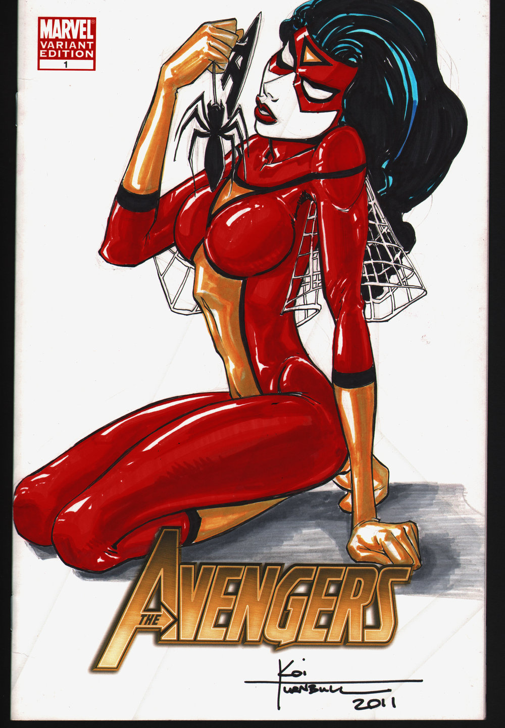 SpiderWoman cover of The Avengers # 1 a.jpg