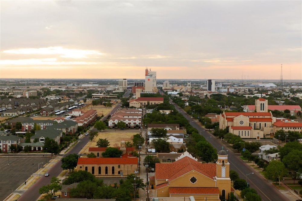 Lubbock, TX Downtown View