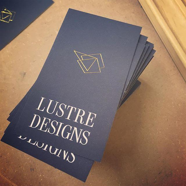 Still in progress...Reversed knockout text and gold foil stamped logo.  #goldfoil #hotfoilstamping #letterpress #businesscards