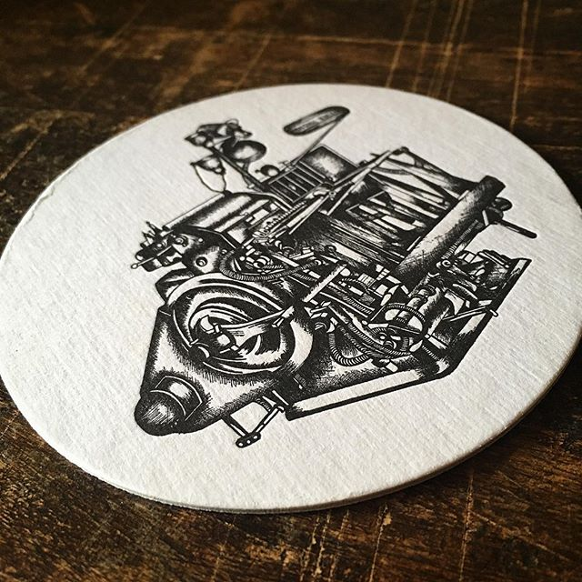Letterpress die cut custom coasters. . . . . . #austinletterpress #letterpress #weddinginvitations #businesscards #stationary #austinweddinginvitations #postcards #diecut #coasters