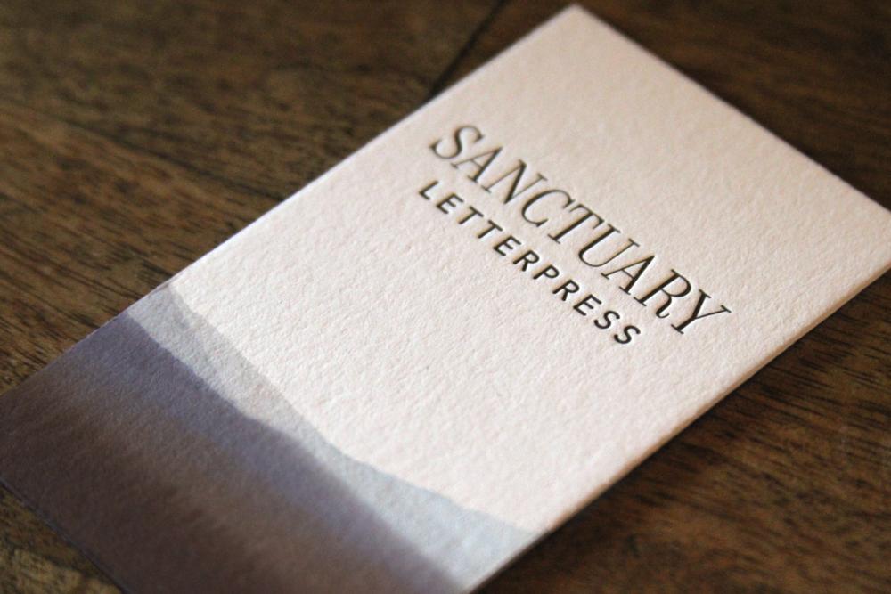 Letterpress business cards by Sanctuary Letterpress