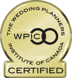 WPIC bagde for Wedding Planners Institute of Canada certification