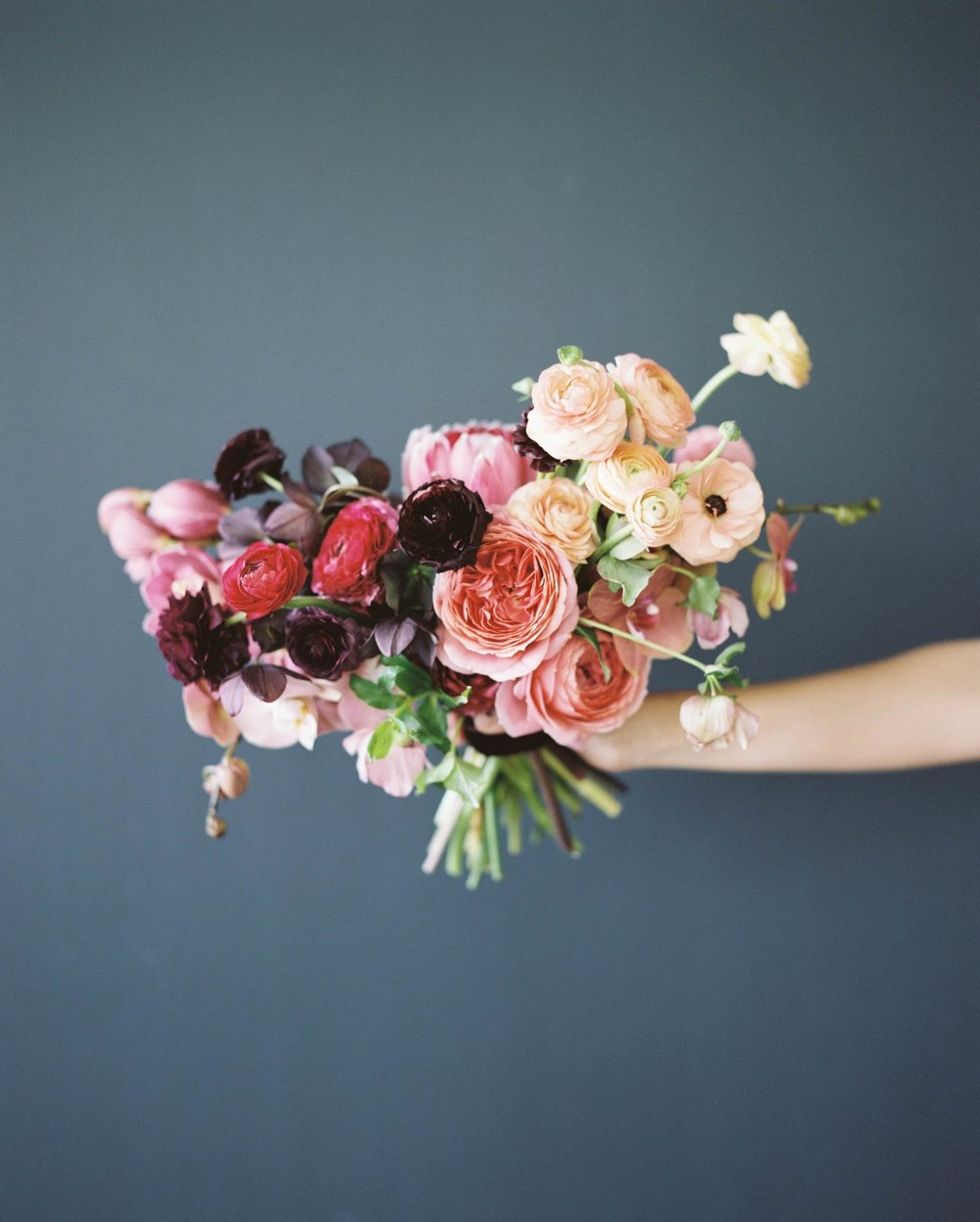 beautiful bouquet of wedding flowers - ready for the initial meeting and ready to start planning!