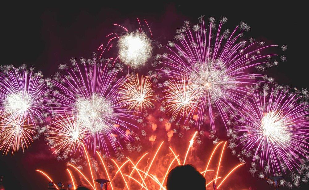 Fireworks pyrotechnics for wedding
