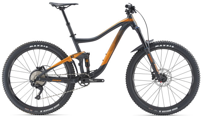 27.5 Wheels with 150mm front 140mm rear travel. When it comes to riding hard and fast on challenging off-road terrain, there's almost nothing this ambitious trail bike can't do. From steep, technical climbs to rowdy descents,