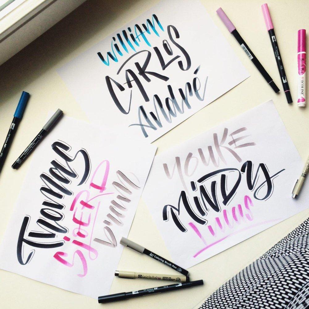 Brush-lettering -