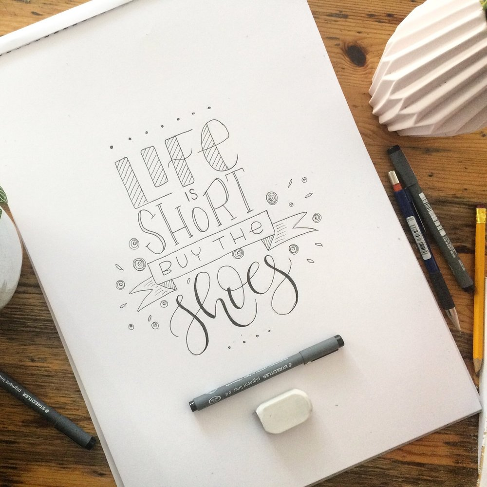 Hand-lettering -