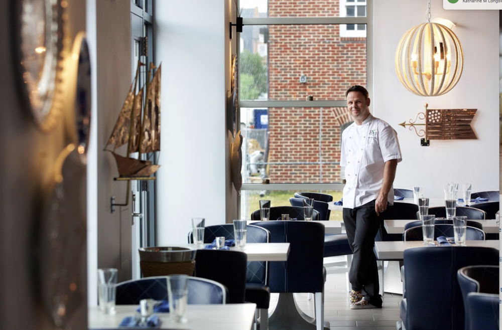 Dublin native, Chef Cathal Armstrong in the dining room at Hummingbird - Photo by Deb Lindsey, Washington Post