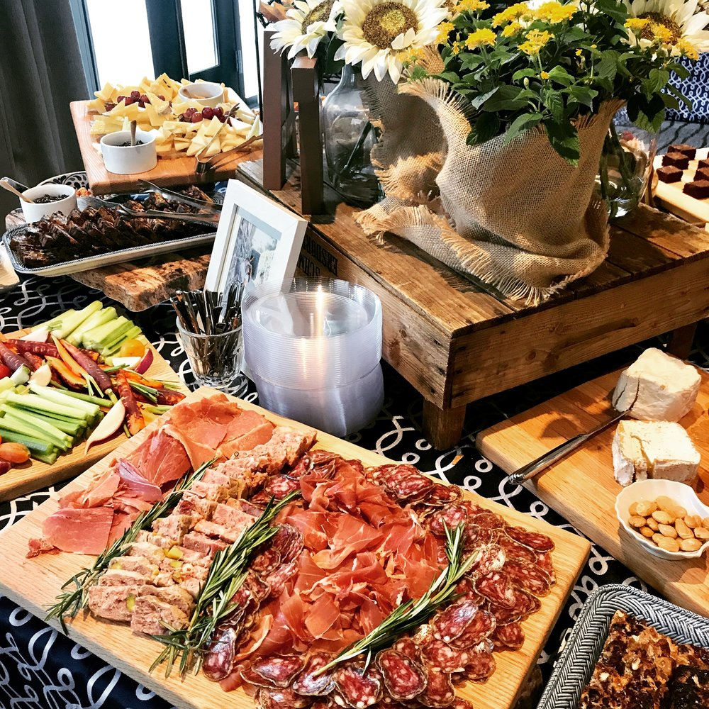Cheese, Charcuterie and Crudité - Engagement party. Combine Rooms:  The Strand  and outdoor  Deck 2