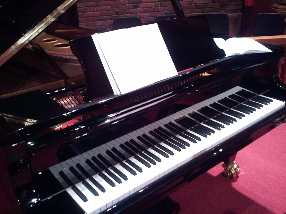 The 9 foot grand piano in our sanctuary