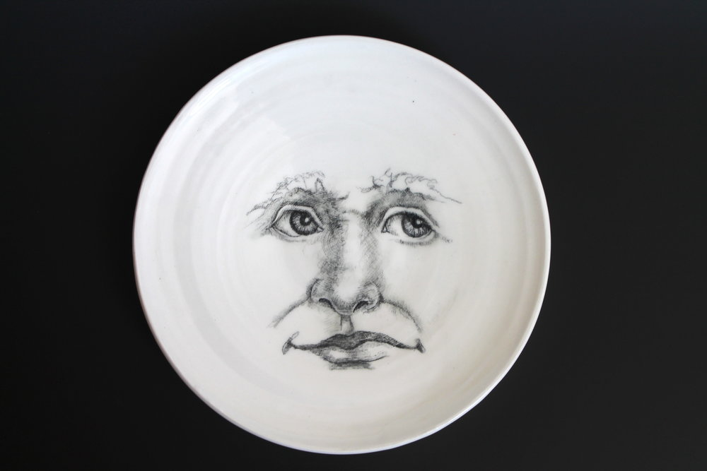 And then, one day, I looked down on one of my porcelain plates, and saw the face of the moon looking brightly up at me.