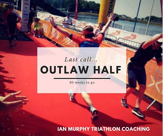 20 weeks until Outlaw Half boys & girls! 🏊🏼‍♂️🚴🏻‍♀️🏃🏻‍♂️ If you are interested in joining the others, and looking for a plan, whether it be your first time at this distance, looking for a PB, particular time on mind or pushing for a podium place, get in touch sooner rather than later.  #20weekstogo #timetogo #swimbikerun #triathlon #triathlontraining #coaching #triathloncoach #triathlete #goals #imtc #imtccoaching